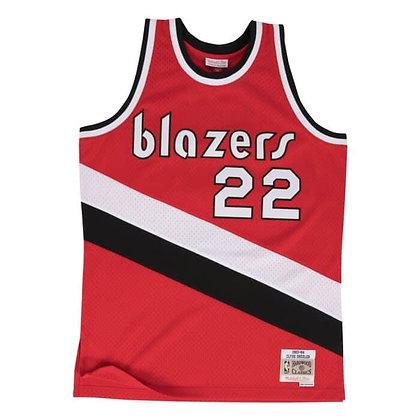 Men's Portland Trail Blazers Clyde Drexler 83-4 Red HWC Mitchell & Ness Swingman