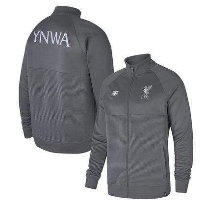Men's Liverpool New Balance Castle Rock Grey Elite Walk-out Jacket 2018/19