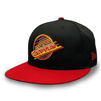 Men's Vancouver Canucks Skate Logo New Era Black/ Red Changeable Strap Snapback