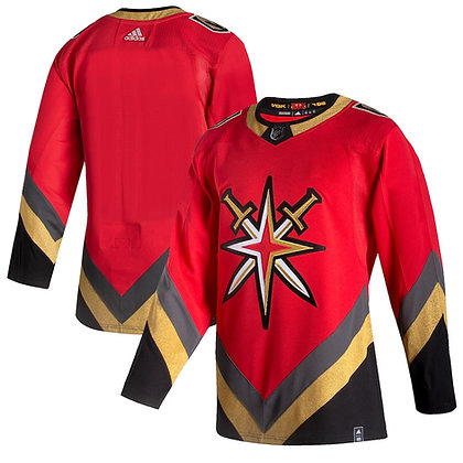 Men's Vegas Golden Knights adidas Reverse Retro 20/21 Red Authentic Jersey
