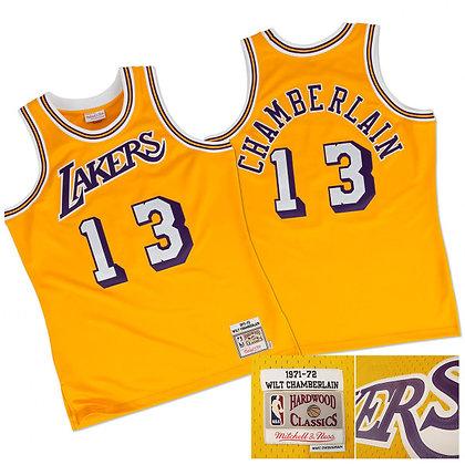 Men's LA Lakers Wilt Chamberlain 1971-72 HWC Mitchell & Ness Swingman Jersey