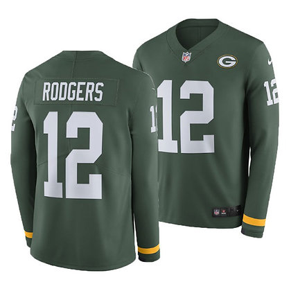 Men's Green Bay Packers Aaron Rodgers Nike Long-Sleeve Thermal Jersey