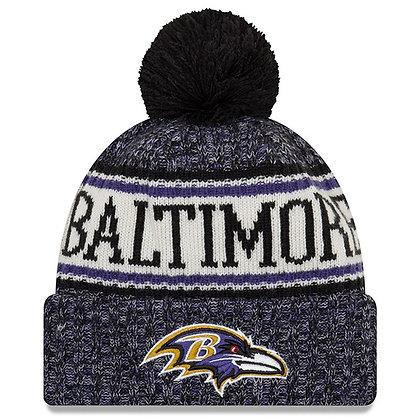 Men's Baltimore Ravens New Era 2018 Sideline Official Sport Knit hat