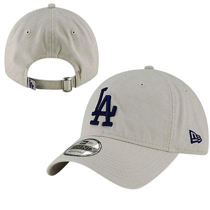 Men's LA Dodgers New Era Gray Core Classic Twill 9TWENTY Adjustable Hat