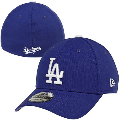 LA Dodgers New Era White Logo on Blue 39THIRTY Flex Hat