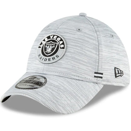 Las Vegas Raiders New Era 2020 Official Road Sideline 39THIRTY Stretch Fit