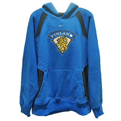Men's Finland Blue Nike Embroidery Hoodie