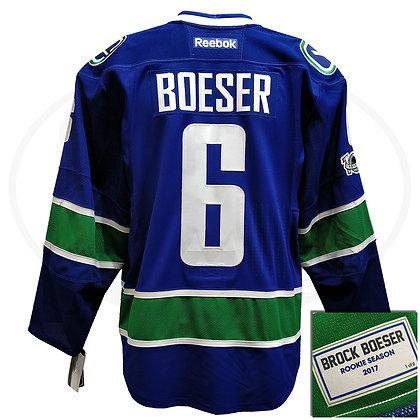 Men's Vancouver Canucks ROOKIE SEASON Brock Boeser Reebok On-Ice Player Jersey