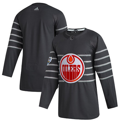Men's Edmonton Oilers adidas Gray 2020 All-Star Game Authentic Jersey