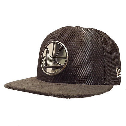 Men's Golden State Warriors New Era ONC Silver on Grey Suede 59FIFTY Fitted Hat