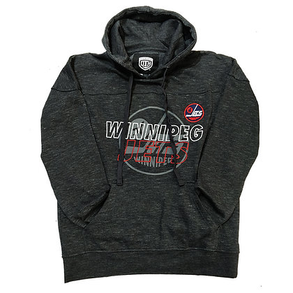 Men's Winnipeg Jets OTH fleece Heather Grey with Embroidery Hoodie