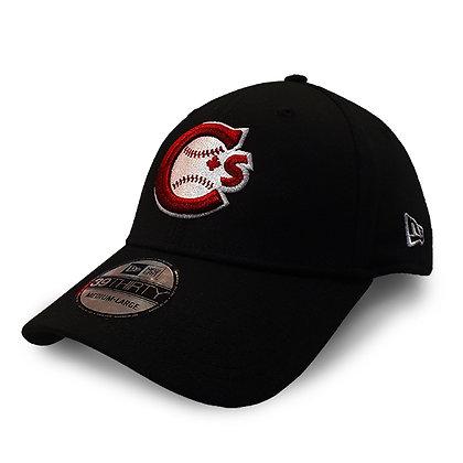Men's Vancouver Canadians New Era Team Logo Black 39THIRTY Flex Hat