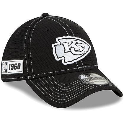 Men's Kansas City Chiefs New Era Black 2019 Sideline Road 39THIRTY Flex Hat