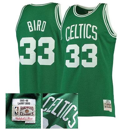Men's Boston Celtics Larry Bird 1985-86 HWC Mitchell & Ness Swingman Jersey