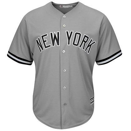 Men's New York Yankees Majestic Gray Road Cool Base Jersey