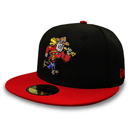 Vancouver Canadians New Era Liquid Metal Mountie Black Red 59FIFTY Fitted Hat