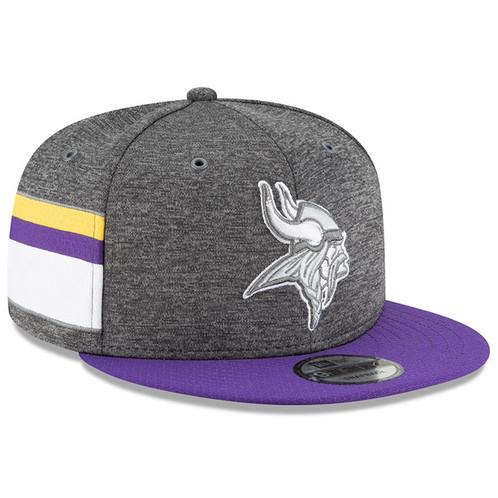 92a052e5d Men's Minnesota Vikings New Era Purple 2018 NFL Sideline Graphite 9FIFTY