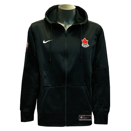 Men's Team Canada 2019 IIHF WJC Nike Black Full-Zip Performance Hoodie