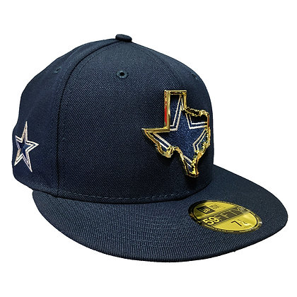 Men's Dallas Cowboys State Metal Framed New Era Navy 59FIFTY Fitted Hat