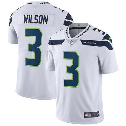 Men's Seattle Seahawks Russell Wilson Nike White  Limited Jersey