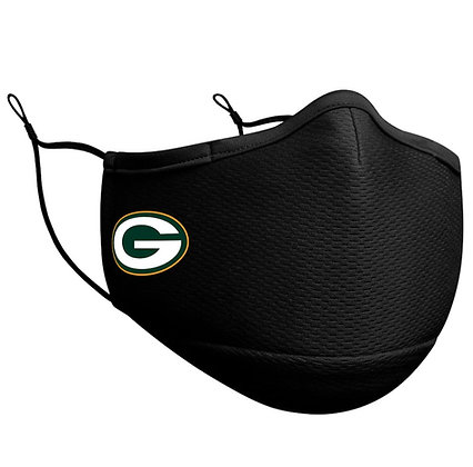 Adult Green Bay Packers New Era Black On-Field Face Mask
