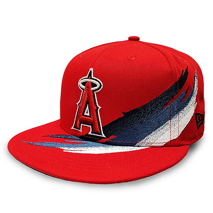 Men's Los Angeles Angels Brush Collection New Era 9FIFTY Red Snapback Hat