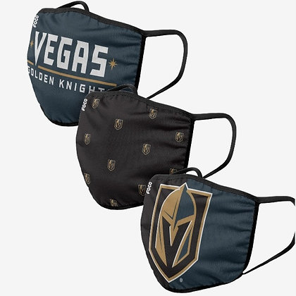 Vegas Golden Knight 3 PACK FACE MASKS (Adult)