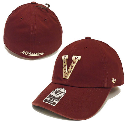 Men's Vancouver Millionaires 47 Brand Franchise Maroon Fitted Hat