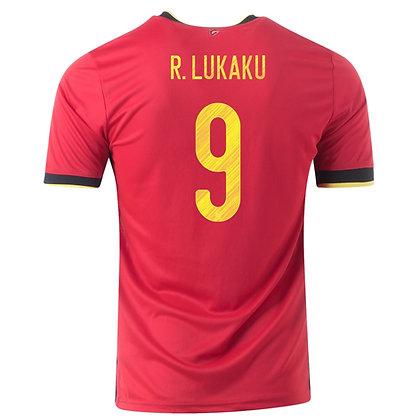 Men's Belgium ROMELU LUKAKU Home adidas Euro 2020Jersey