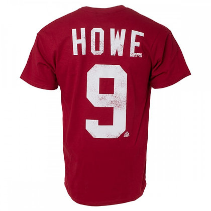 Men's Detroit Red Wings Howe OTH Alumni Faded Red T-shirt