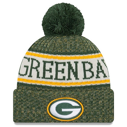 Men's Green Bay Packers New Era 2018 Sideline Official Sport Knit hat