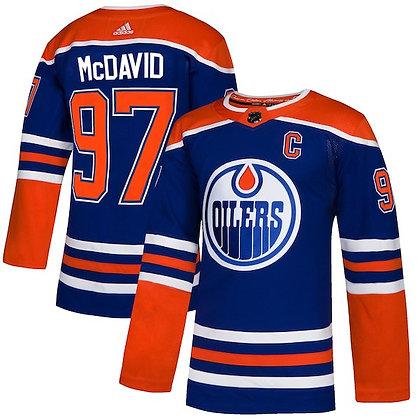 Men's Edmonton Oilers Connor McDavid adidas NHL Authentic Royal Alternate Jersey