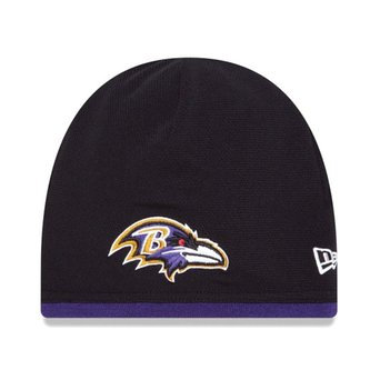 Men's Baltimore revans New Era Black/ Purple NFL Sideline Tech Knit / Toque