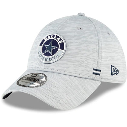 Dallas Cowboys New Era 2020 Official Road Sideline 39THIRTY Stretch Fit