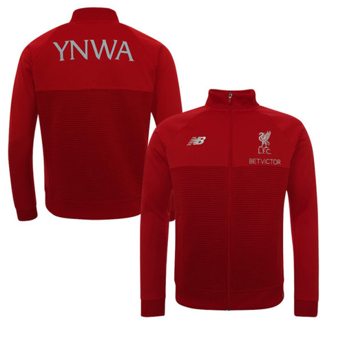 18480bc0637 Cheer on your favorite team in style with the Liverpool Red Pepper Walk Out  Replica Jacket from the 2018 19 season.