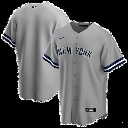 Men's New York Yankees Nike Gray Road 2020 Replica Team Baseball Jersey