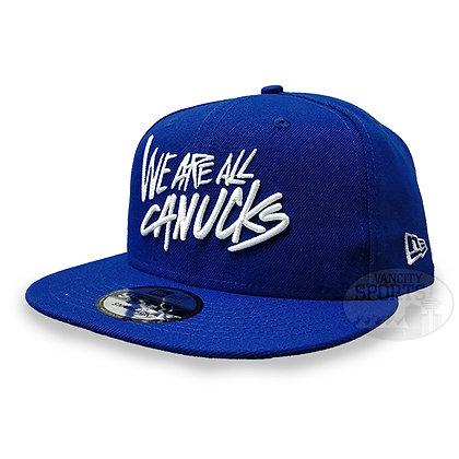 Men's Vancouver Canucks We R all Canucks New Era Blue 9FIFTY Snapback