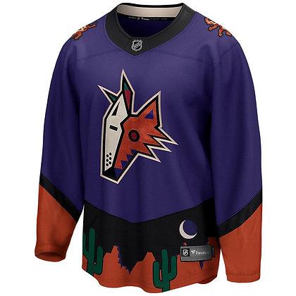 Men's Arizona Coyotes Fanatics Reverse Retro REPLICA Breakaway Purple Jersey
