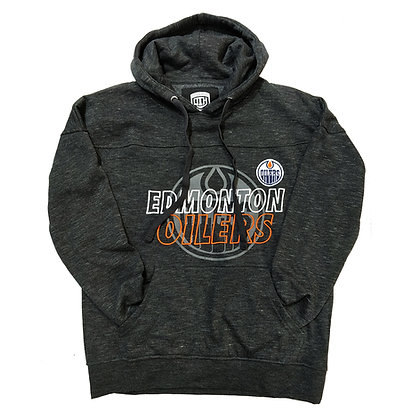 Men's Edmonton Oilers OTH fleece Heather Grey with Embroidery Hoodie