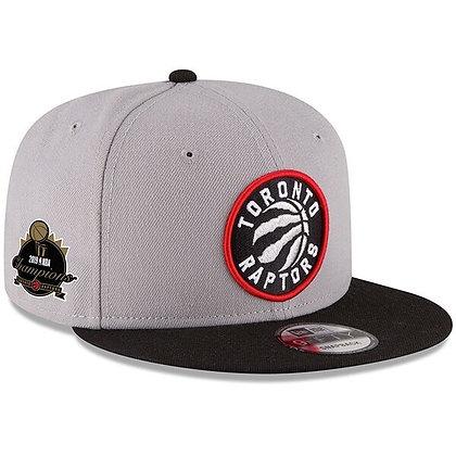 Toronto Raptors 2019 NBA Final Champions Side Patch New Era Grey 9FIFTY Snapback