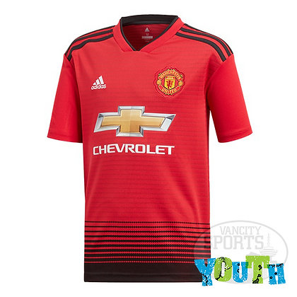 Youth Manchester United adidas Home Jersey 18/19