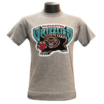 Men's Vancouver Grizzlies Basic Logo Grey T-Shirt
