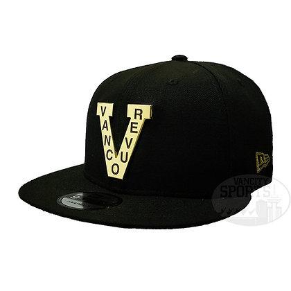 Men's Vancouver Millionaires New Era Metal Frame 9FIFTY Black Snapback Hat