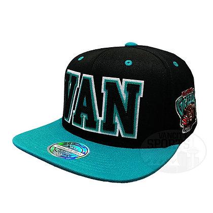 Vancouve Grizzlies Retaggio Mitchell and Ness Black Flex Snapback Hat