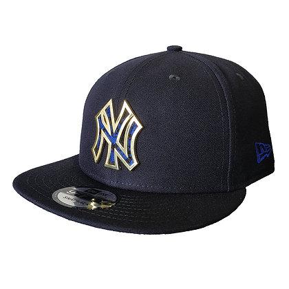 Men's New York Yankees New Era Metal Framed Pattern 9FIFTY Navy Snapback