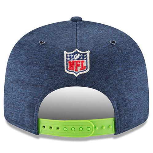 a67d39db Men's Seattle Seahawks New Era Navy / Neon Green 2018 NFL Sideline Home 9FIFTY  Snapback Hat