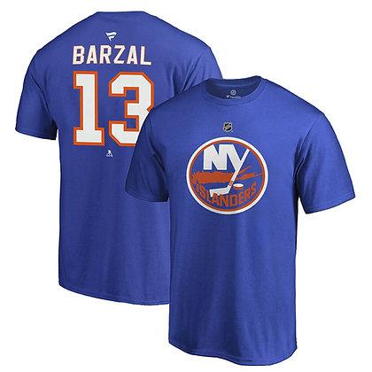 Men's New York Islanders Mathew Barzal Fanatics Blue Name and Number T-Shirt