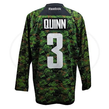 Men's Vancouver Canucks Pat Quinn Reebok Camou Premier Jersey