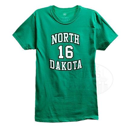 Men's North Dakota Brock Boeser #16 '47 Brand Kelly Green T-shirt