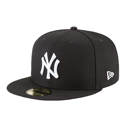 Men's New York Yankees New Era Black on White 59FIFTY Fitted hat